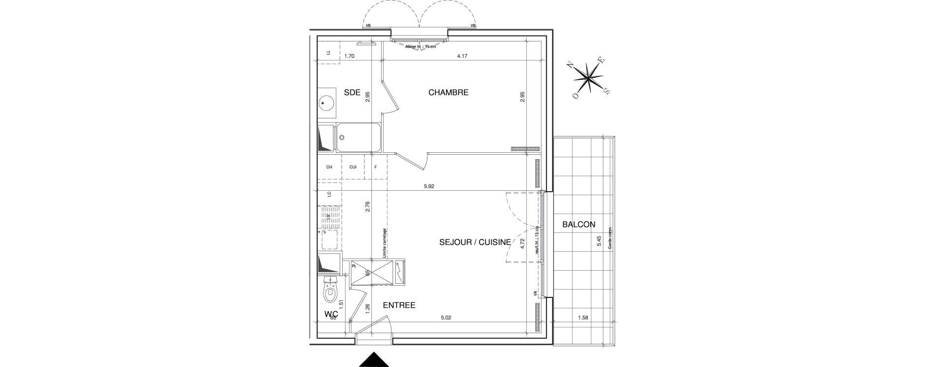 Appartement T2 de 43,96 m2 à Éragny Le village - les prés