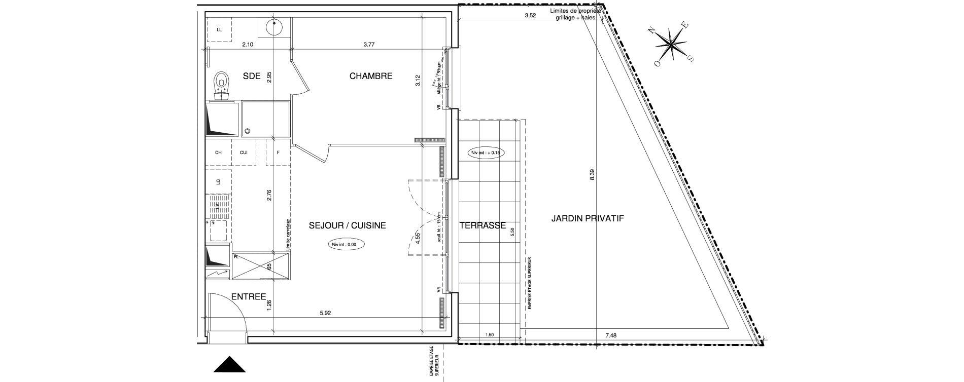 Appartement T2 de 44,84 m2 à Éragny Le village - les prés