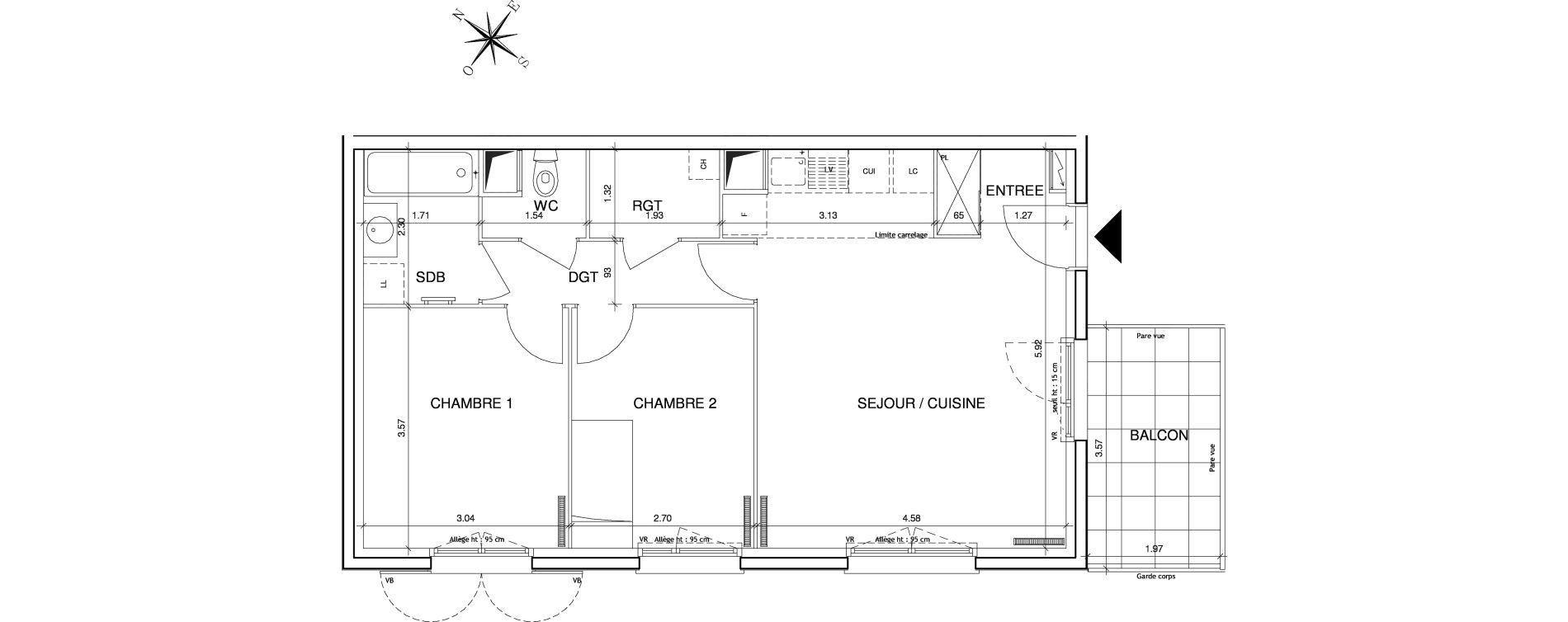 Appartement T3 de 59,41 m2 à Éragny Le village - les prés