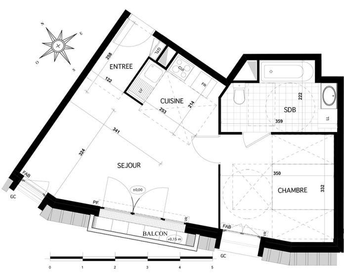 Plan T2 neuf à Franconville de