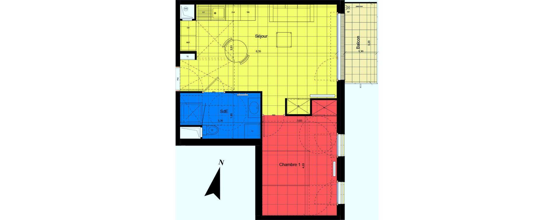 Plan T2 neuf à Jouy-le-Moutier de