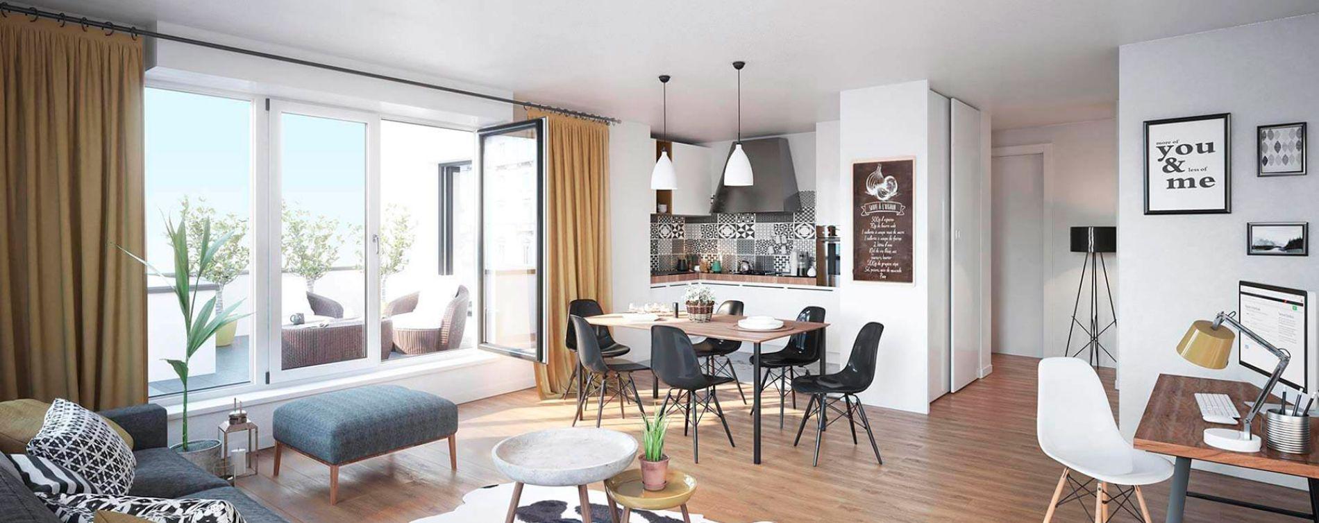 Le Plessis-Bouchard : programme immobilier neuve « Coeur Plessis » (2)