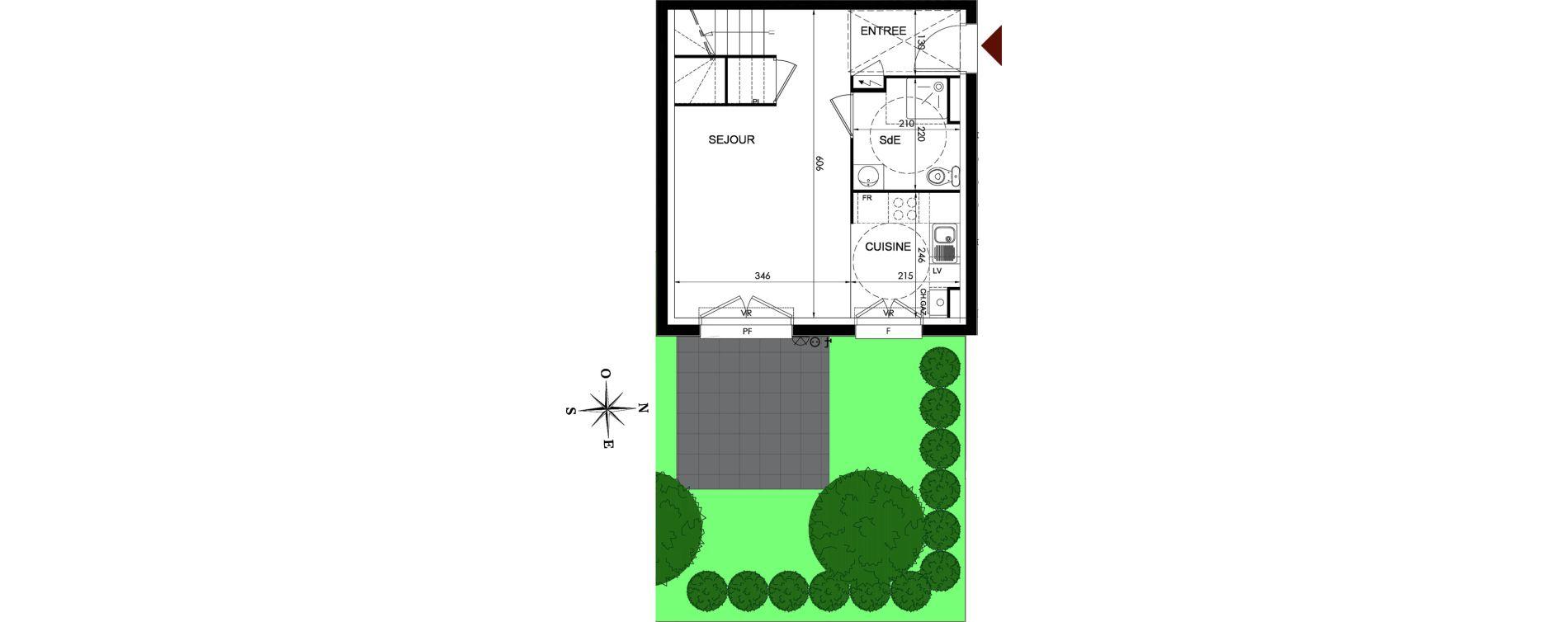 Duplex T3 de 75,89 m2 à Parmain Centre