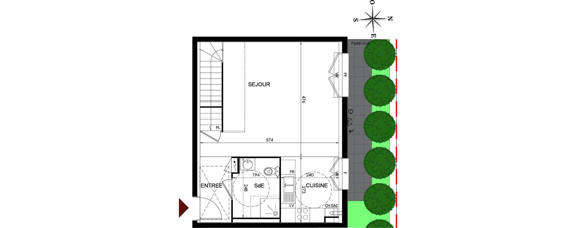 Duplex T3 de 74,54 m2 à Parmain Centre