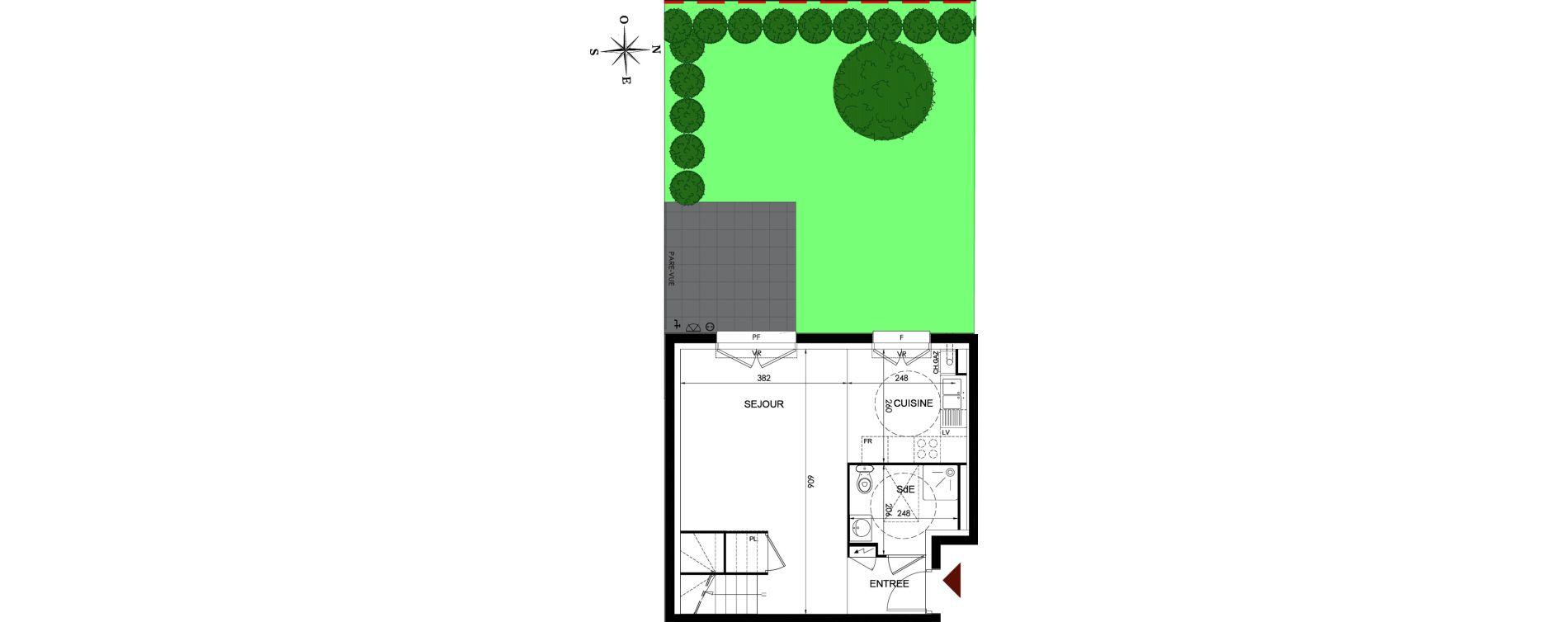 Duplex T3 de 69,39 m2 à Parmain Centre