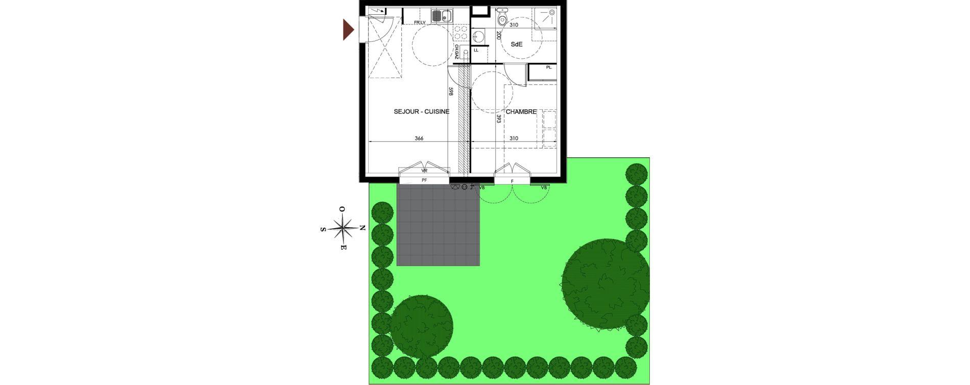 Appartement T2 de 39,77 m2 à Parmain Centre