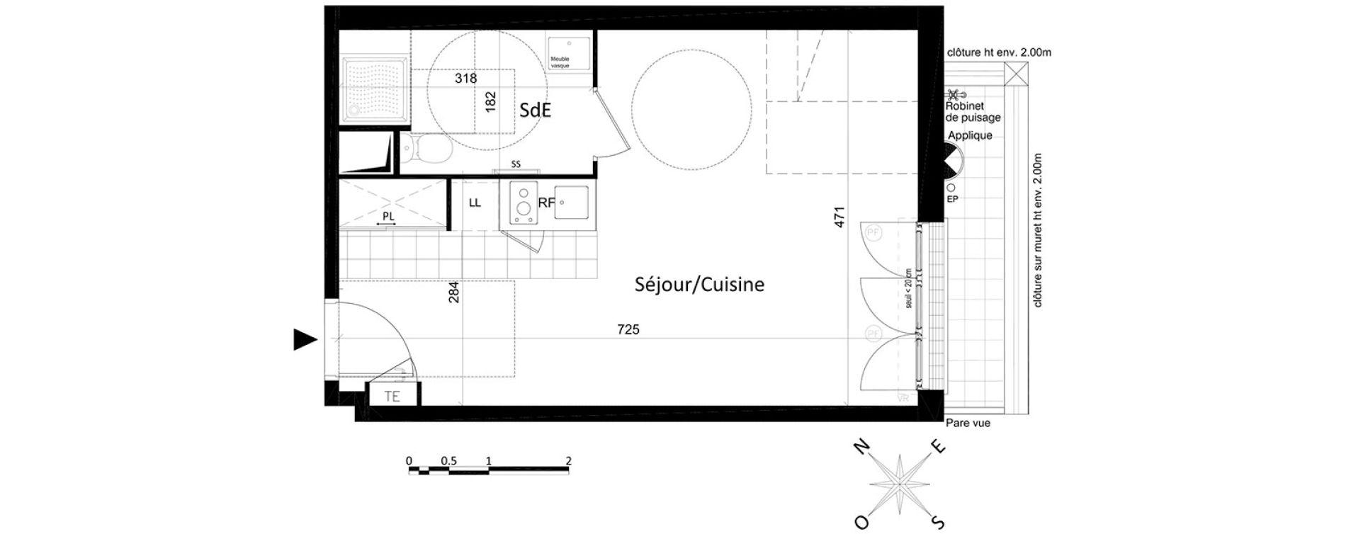 Appartement T1 de 33,10 m2 à Saint-Leu-La-Forêt Centre