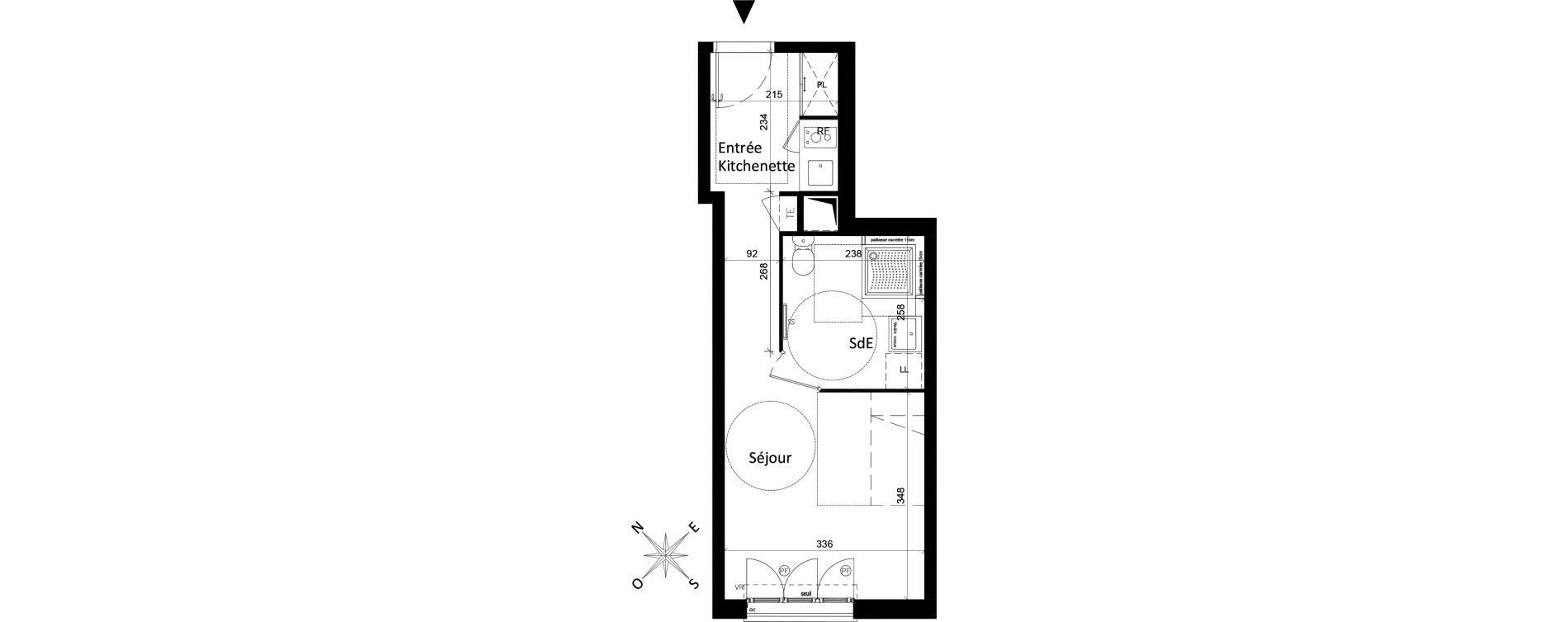Appartement T1 de 25,93 m2 à Saint-Leu-La-Forêt Centre
