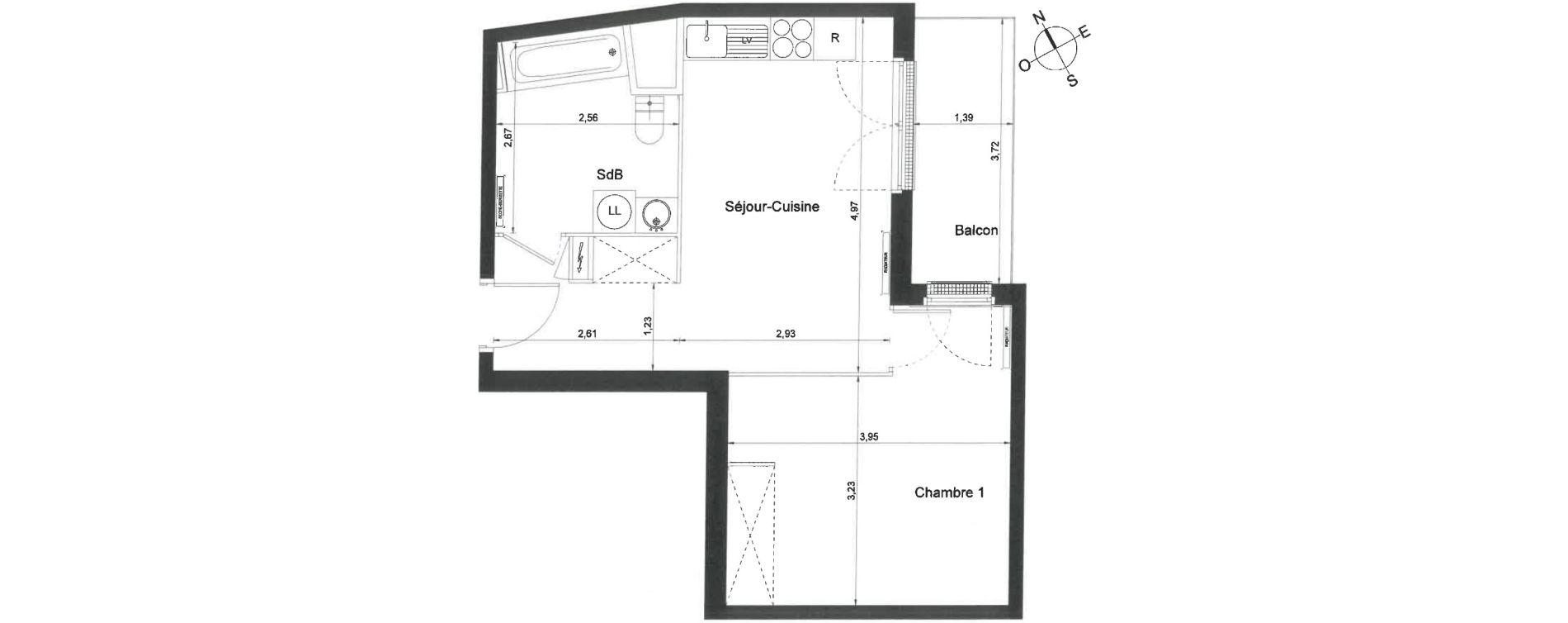 Appartement T2 de 40,00 m2 à Villiers-Le-Bel Centre