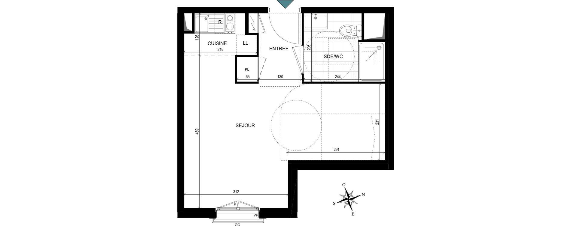 Appartement T1 de 29,65 m2 à Villiers-Le-Bel Village - val roger