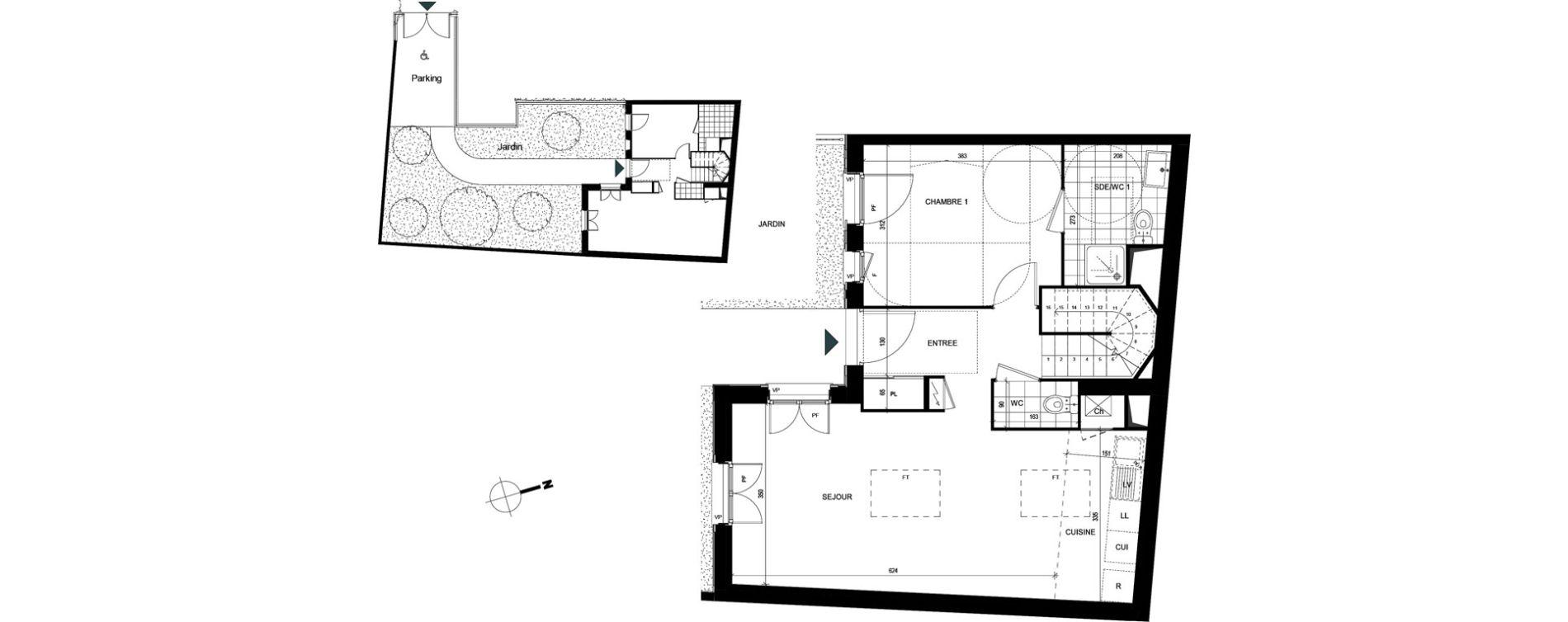 Duplex T4 de 86,67 m2 à Villiers-Le-Bel Village - val roger