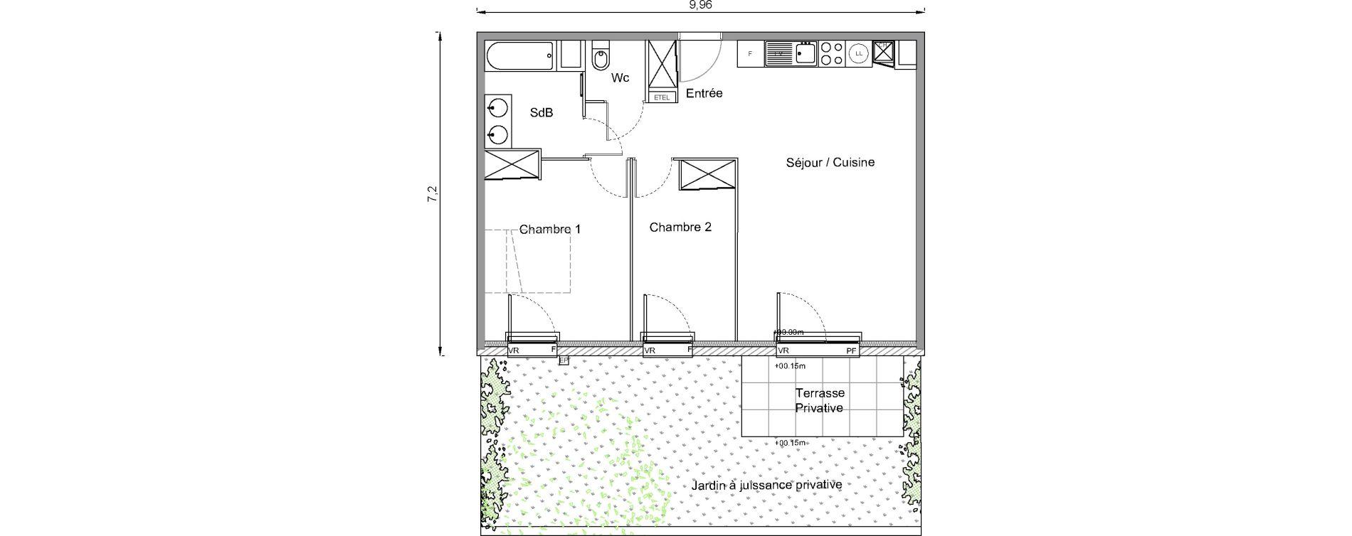 Appartement T3 de 62,50 m2 à Bonnières-Sur-Seine Centre