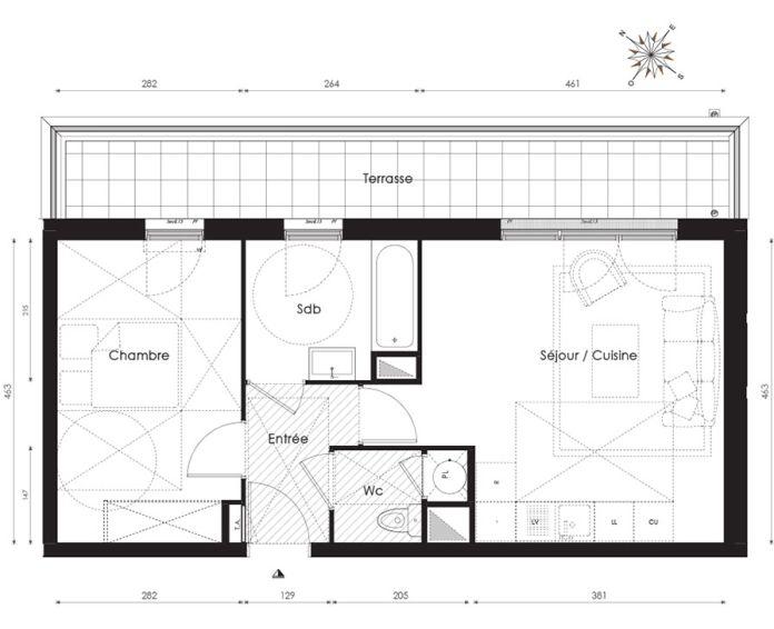 Plan T2 neuf à Carrières-sous-Poissy de