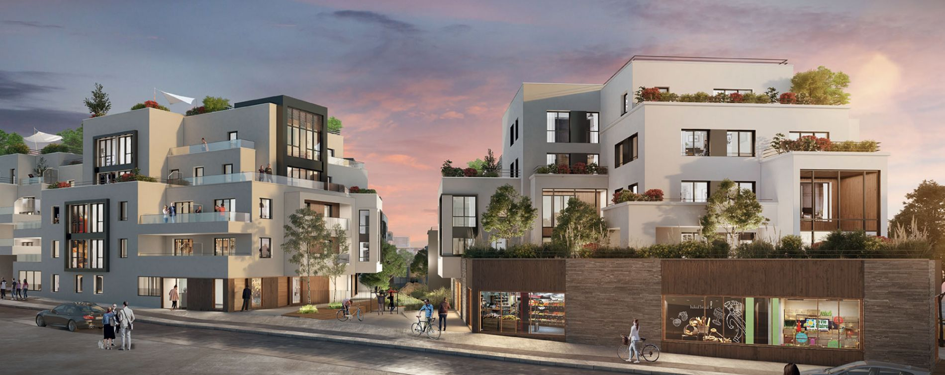 Chatou : programme immobilier neuve « Le Patio des Artistes » en Loi Pinel (3)