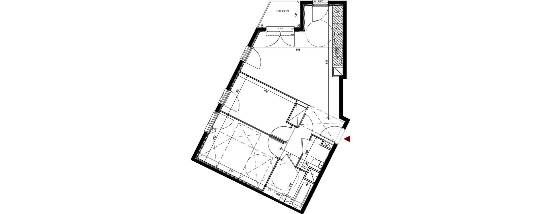 Appartement T3 de 56,77 m2 à Conflans-Sainte-Honorine Centre