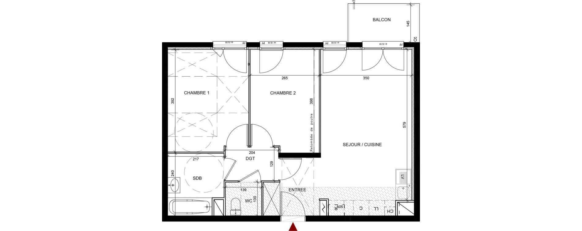 Appartement T3 de 57,70 m2 à Conflans-Sainte-Honorine Centre