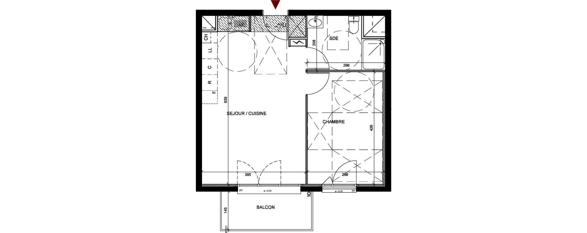 Appartement T2 de 42,16 m2 à Conflans-Sainte-Honorine Centre