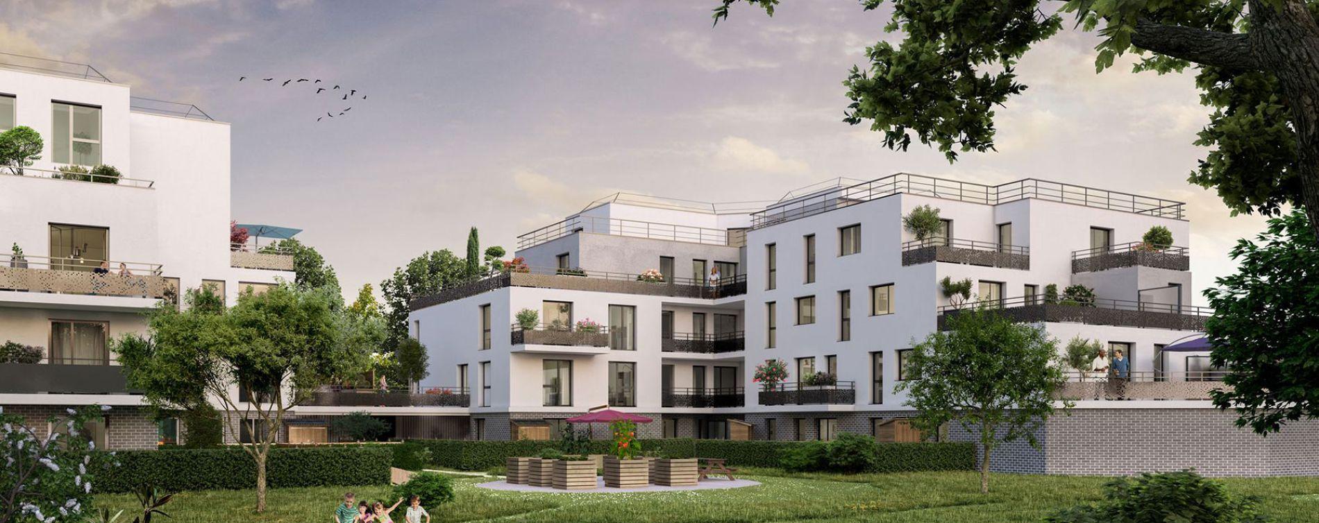 Élancourt : programme immobilier neuve « Les Jardins d'Amantine » en Loi Pinel (2)