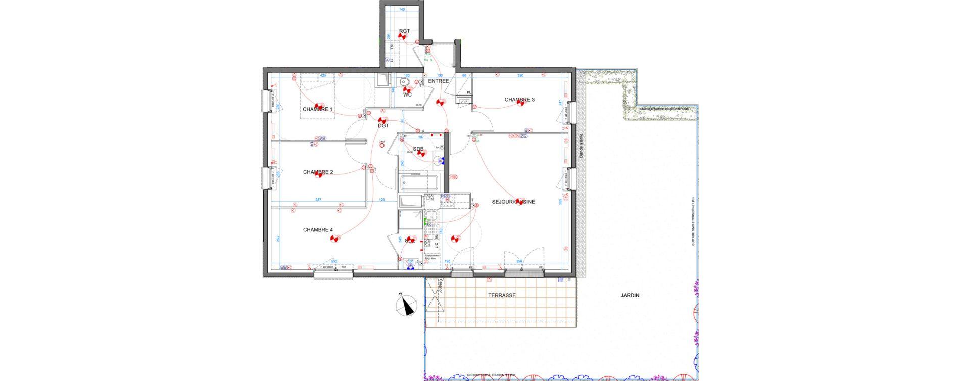 Appartement T5 de 99,40 m2 à Élancourt Clef de saint-pierre