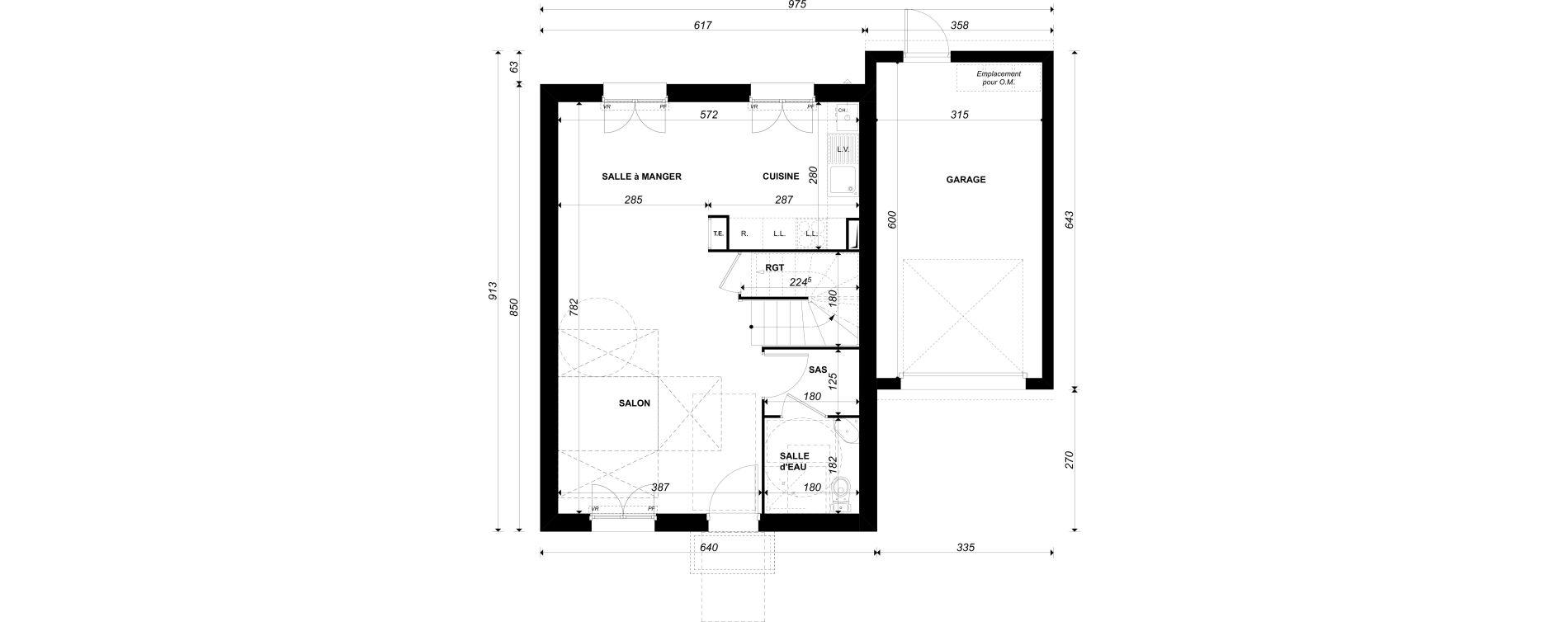 Maison T4 de 80,70 m2 à Épône Centre
