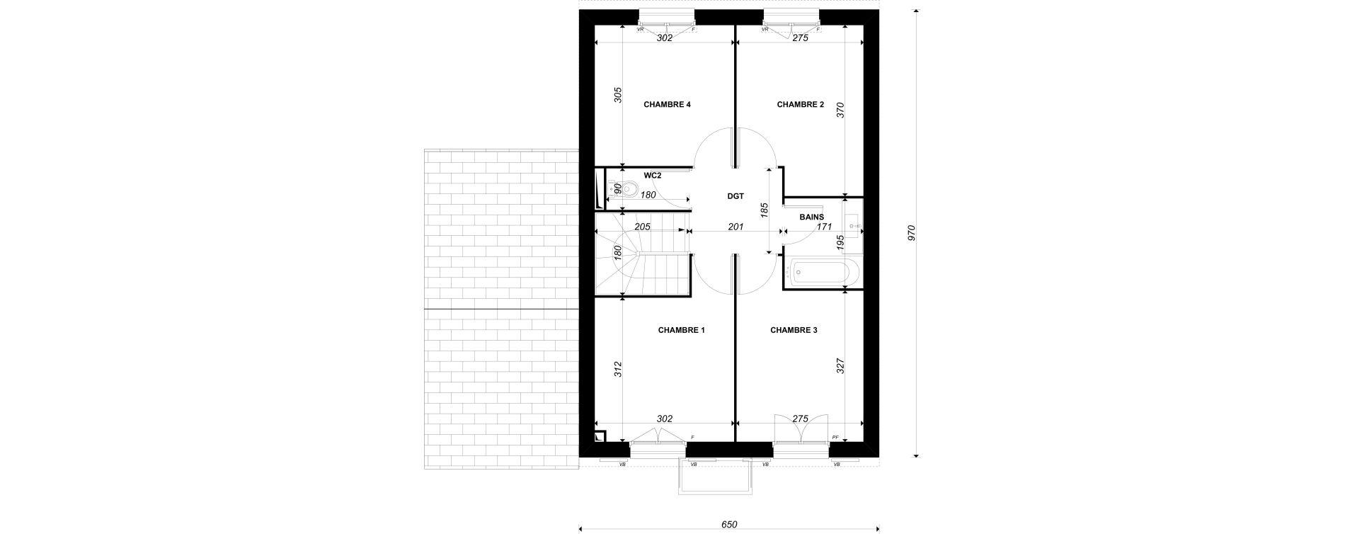 Maison T5 de 96,31 m2 à Épône Centre
