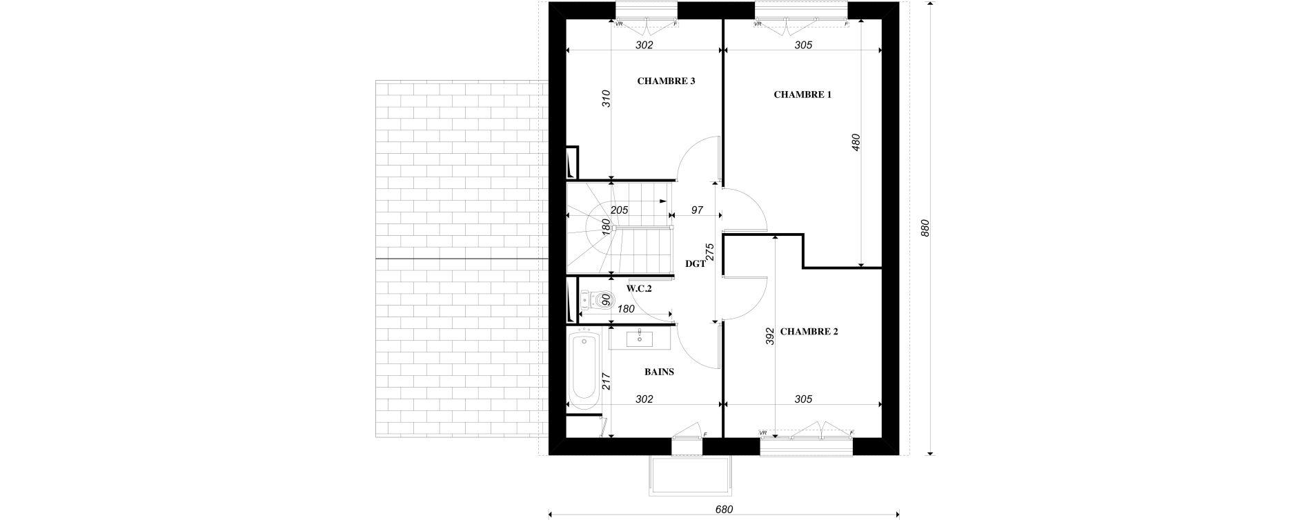Maison T4 de 90,81 m2 à Épône Centre