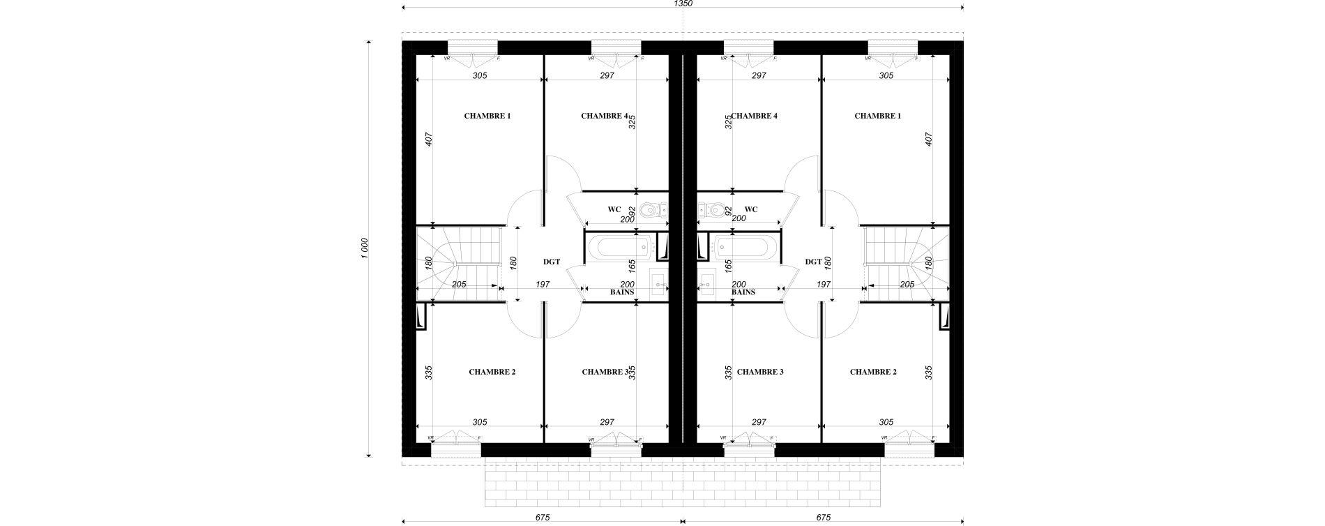 Maison T4 de 91,37 m2 à Épône Centre
