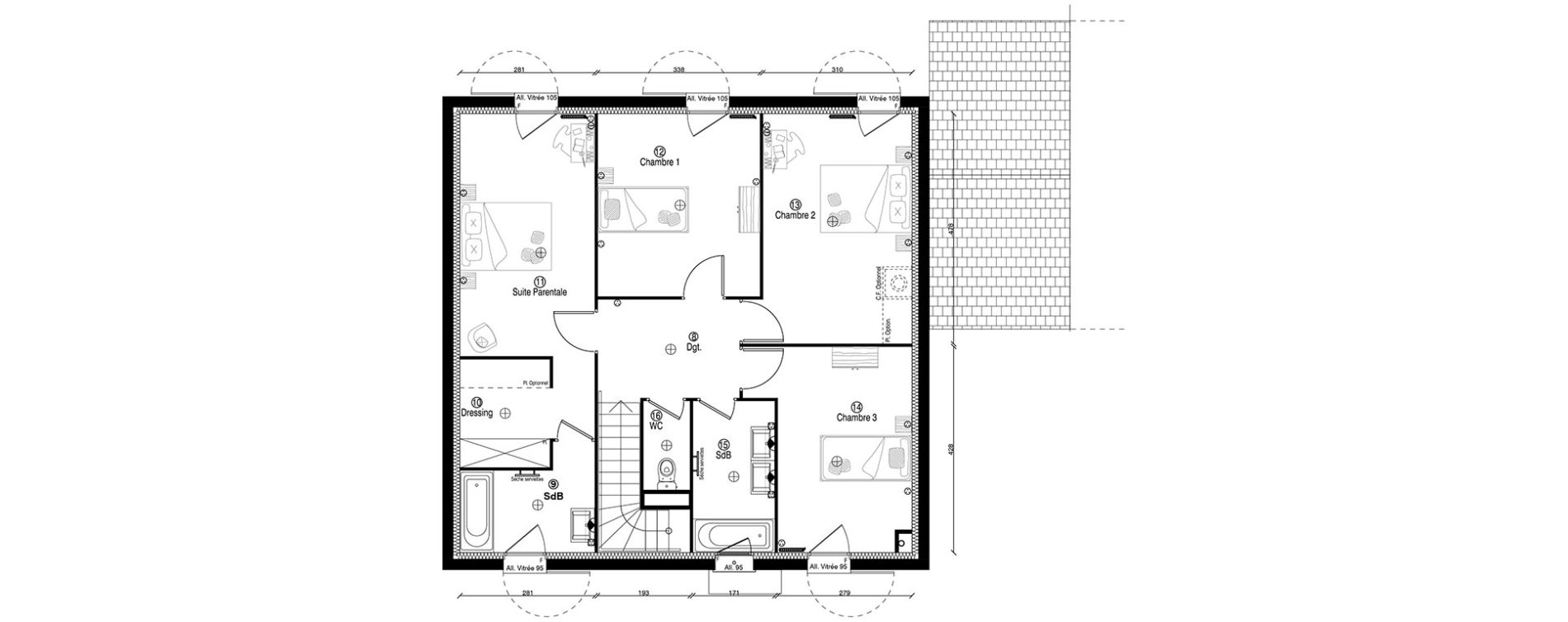Maison T6 de 160,00 m2 à Guyancourt Centre