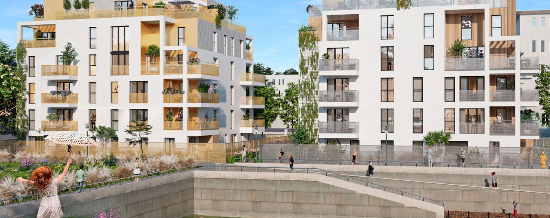 Guyancourt : programme immobilier neuve « Les Bords du Lac » en Loi Pinel