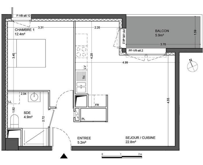 Plan T2 neuf à Guyancourt de