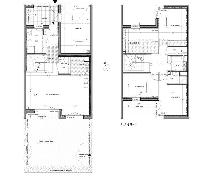 Maison t5 guyancourt n 927 sud programme neuf for Achat maison yvelines