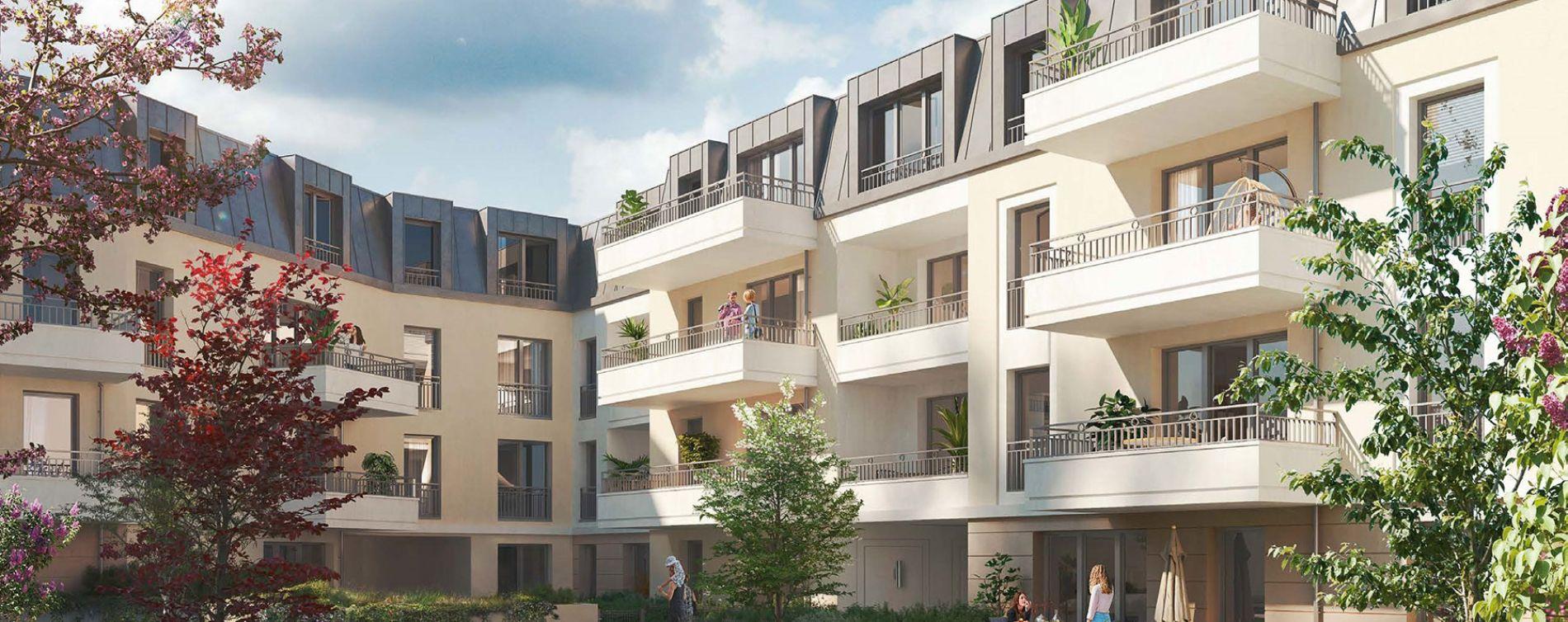 Houilles : programme immobilier neuve « Les Jardins Schoelcher » (2)