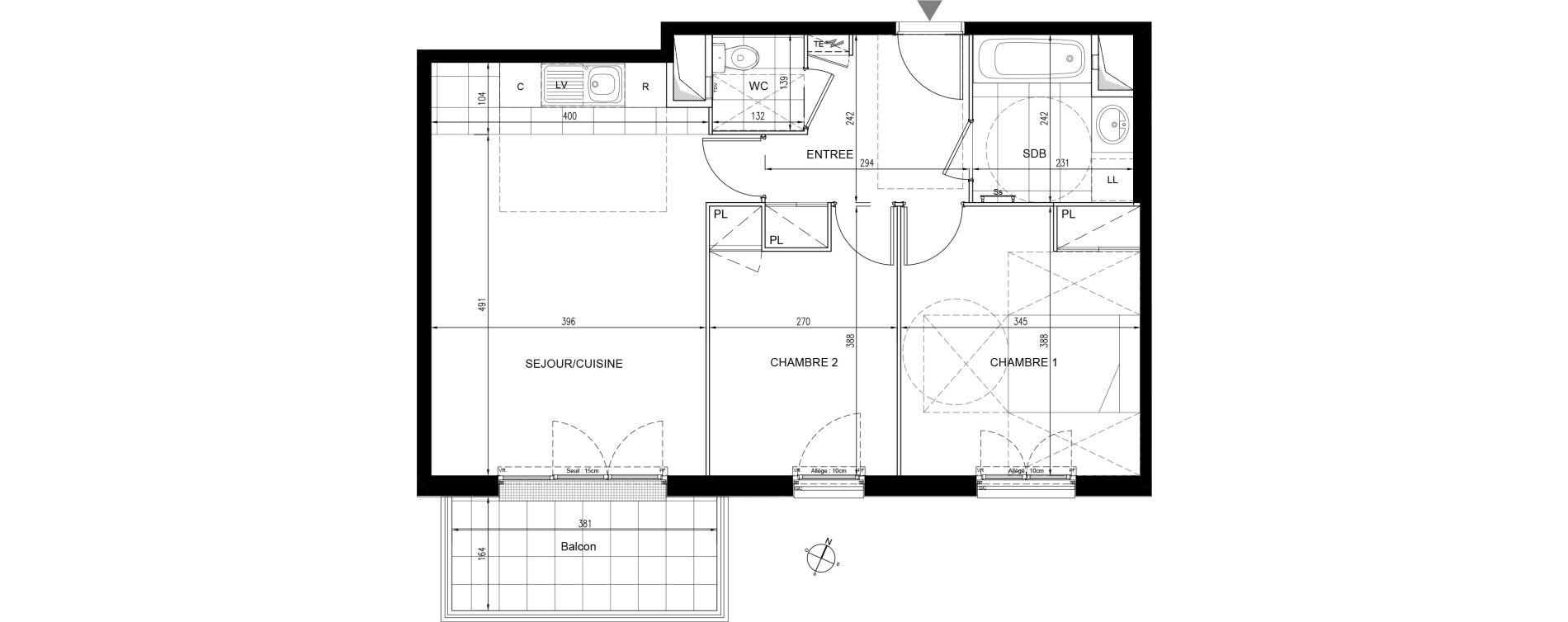 Appartement T3 de 60,67 m2 à Houilles Centre