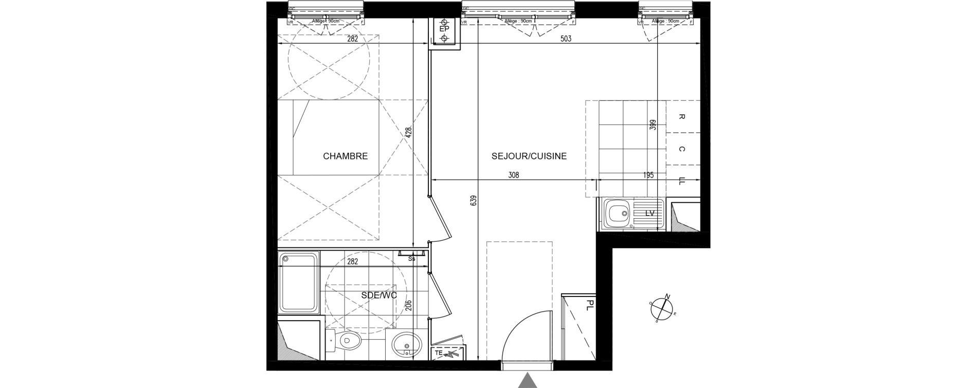 Appartement T2 de 43,64 m2 à Houilles Centre