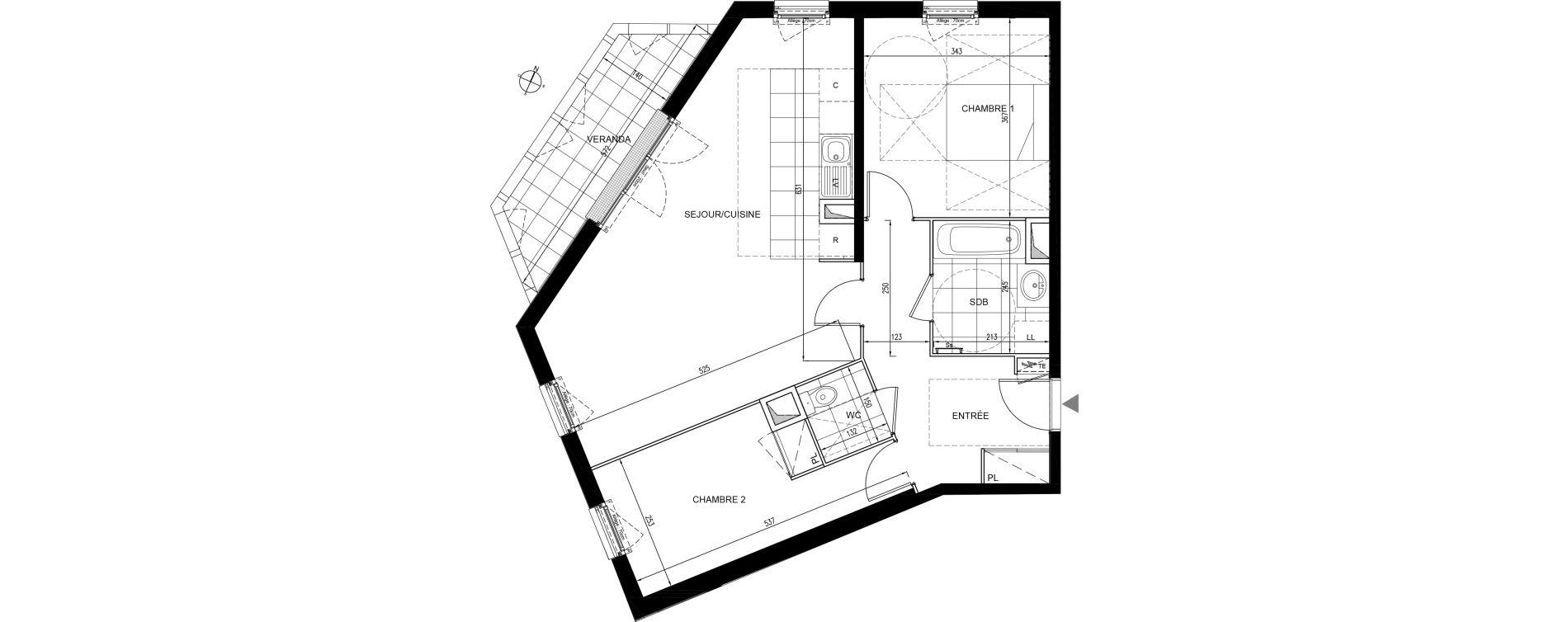 Appartement T3 de 72,13 m2 à Houilles Centre
