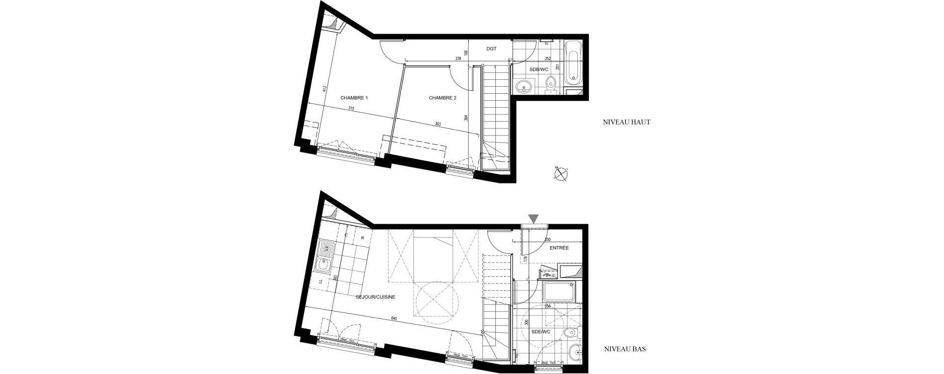Duplex T3 de 69,00 m2 à Houilles Centre