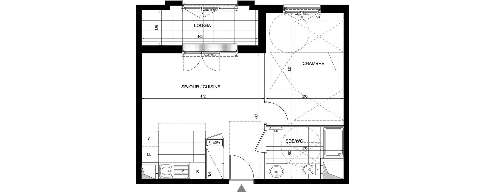 Appartement T2 de 40,24 m2 à Houilles Centre