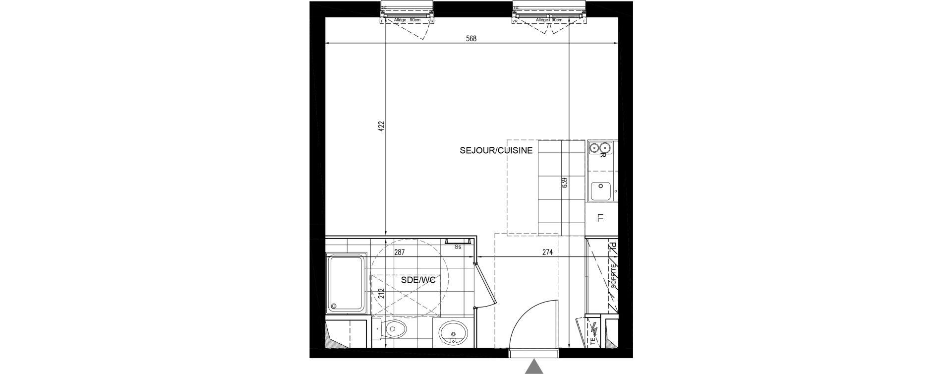 Appartement T1 de 34,86 m2 à Houilles Centre