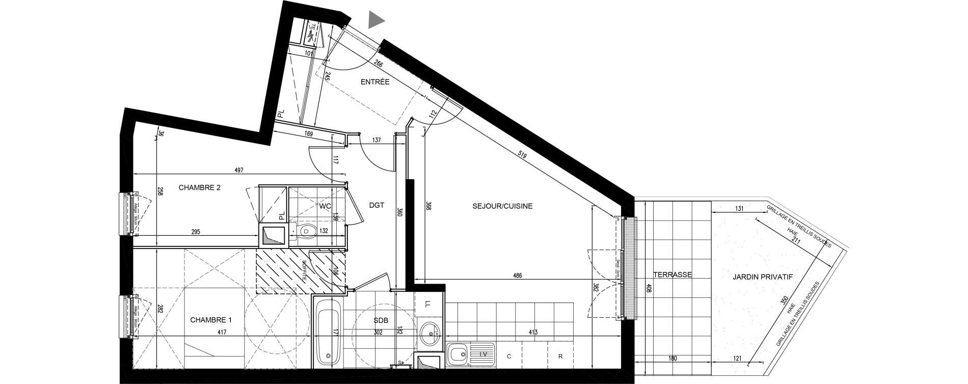 Appartement T3 de 66,32 m2 à Houilles Centre