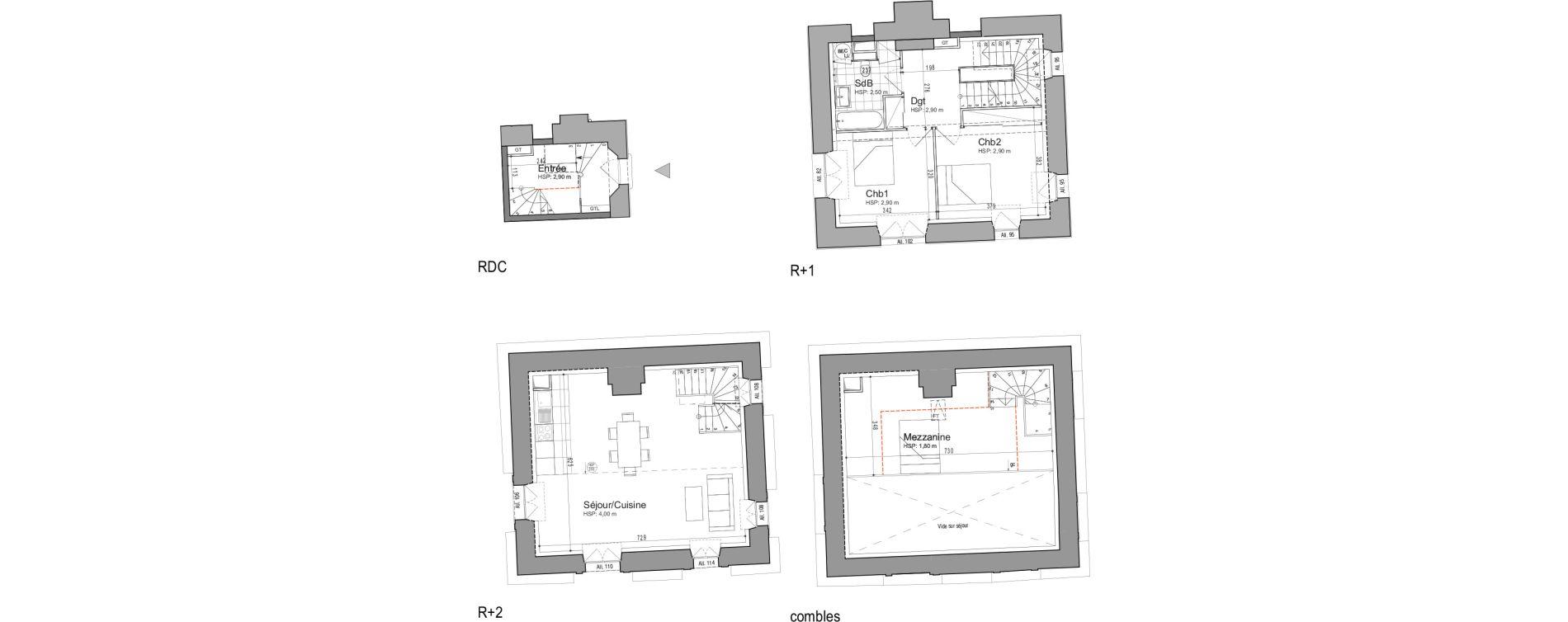Appartement T3 de 95,59 m2 à Jouars-Pontchartrain Centre