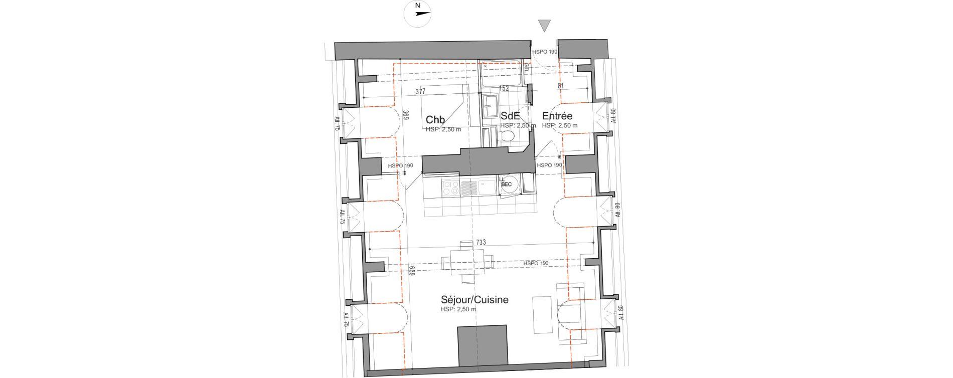 Appartement T2 de 53,70 m2 à Jouars-Pontchartrain Centre