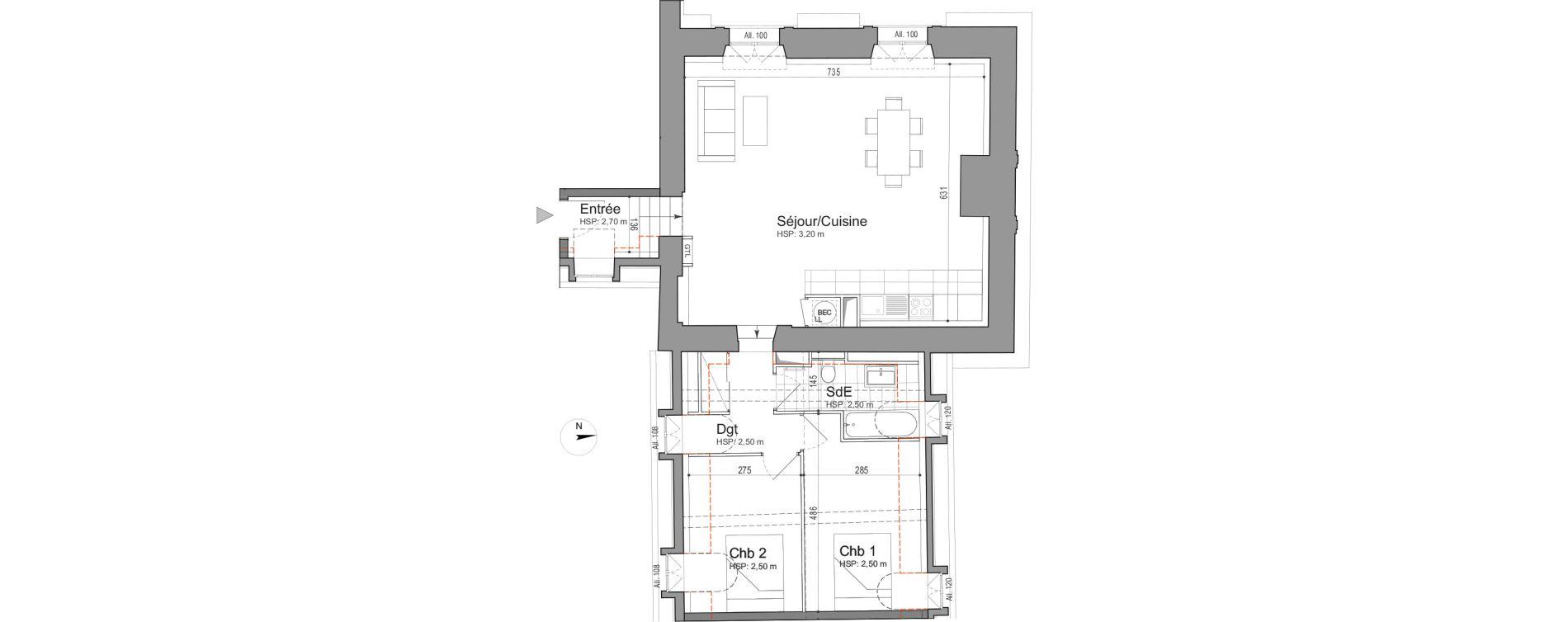 Appartement T3 de 77,88 m2 à Jouars-Pontchartrain Centre