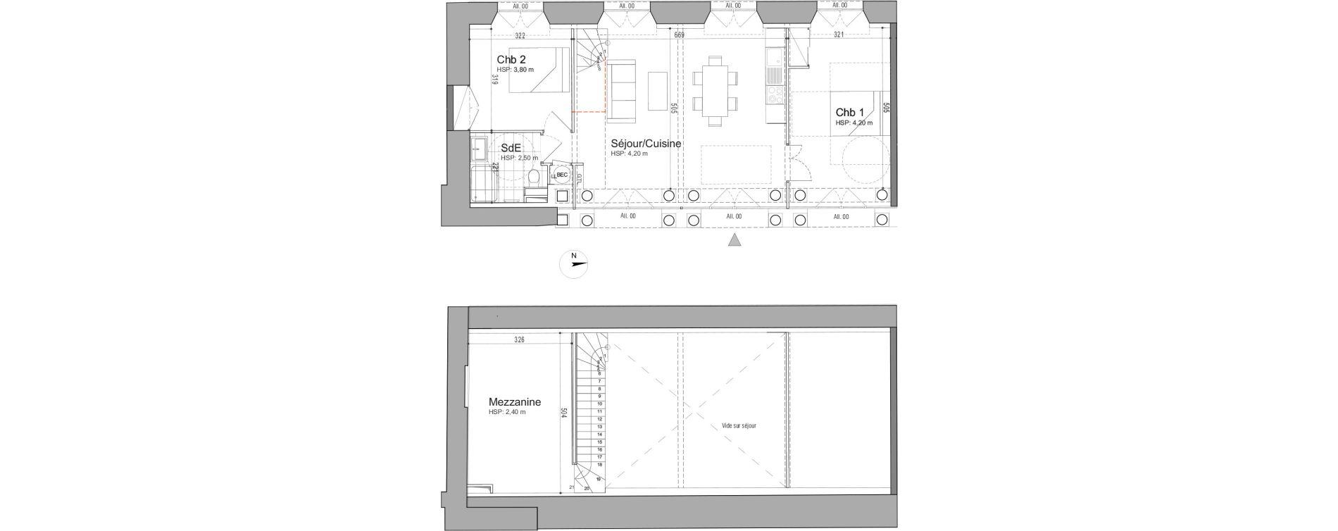 Appartement T3 de 86,63 m2 à Jouars-Pontchartrain Centre