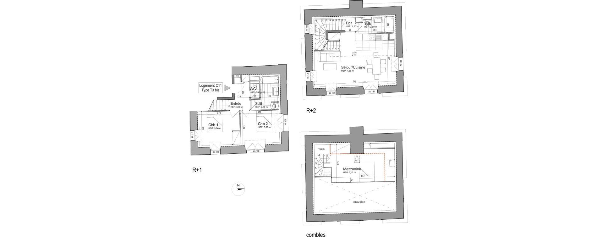 Appartement T3 de 86,88 m2 à Jouars-Pontchartrain Centre