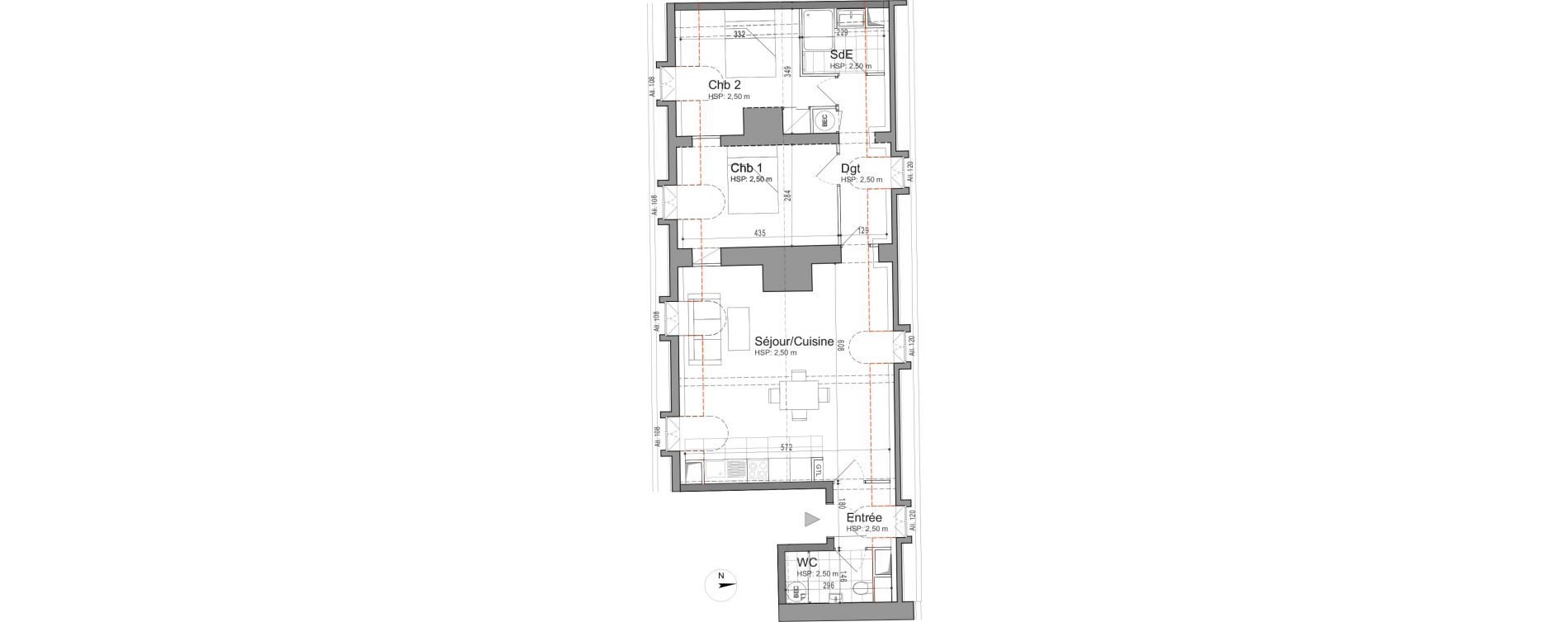 Appartement T3 de 65,65 m2 à Jouars-Pontchartrain Centre