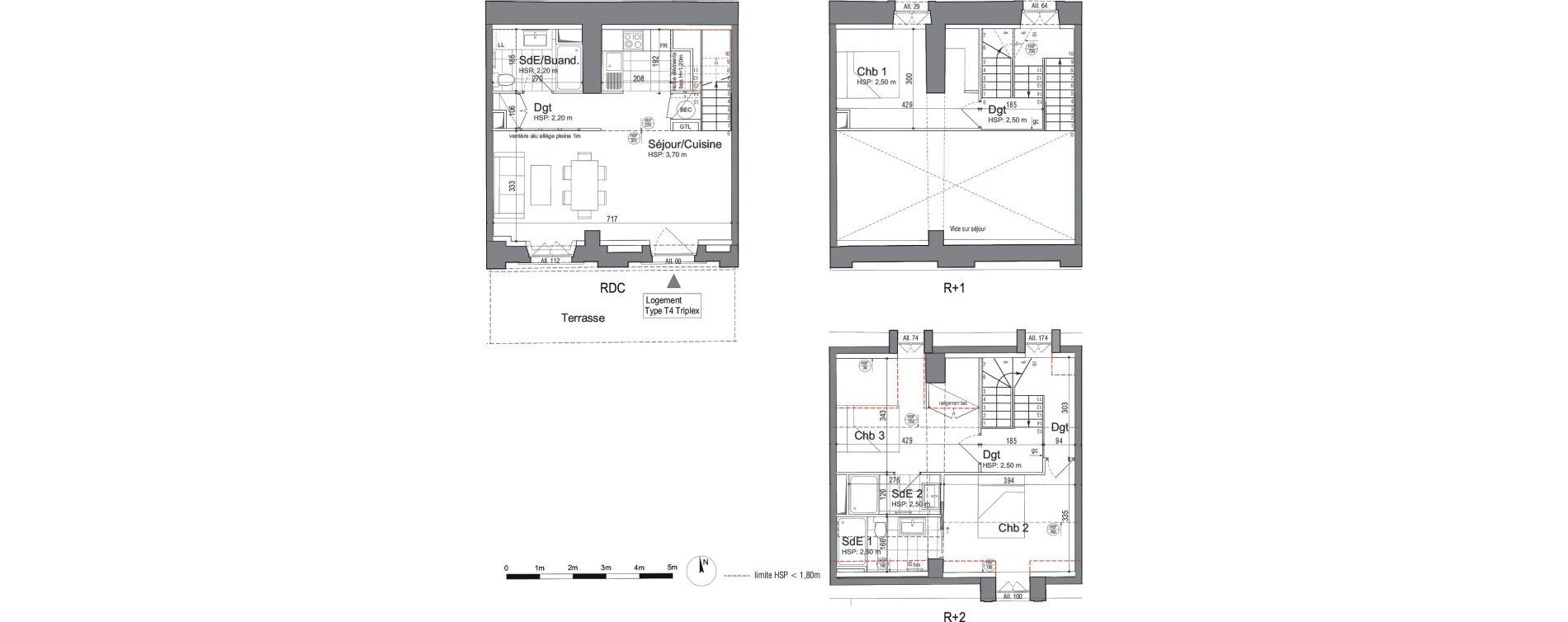 Triplex T4 de 85,79 m2 à Jouars-Pontchartrain Centre