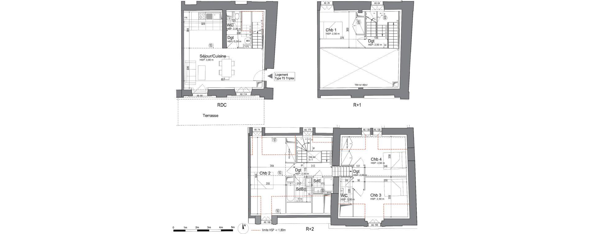 Triplex T5 de 98,42 m2 à Jouars-Pontchartrain Centre