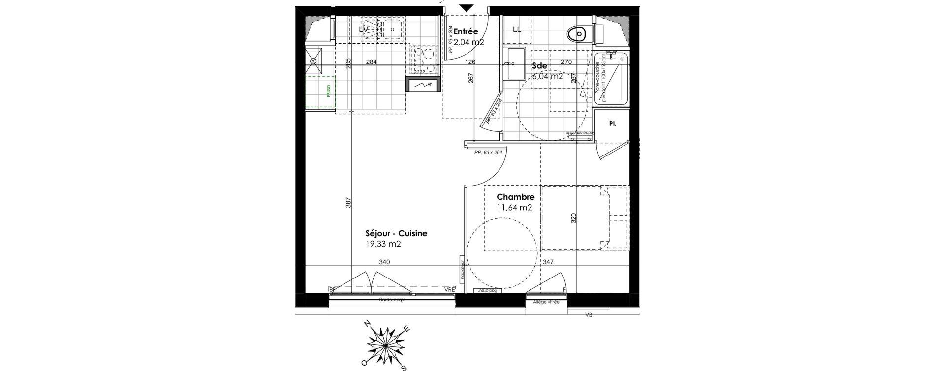 Appartement T2 de 39,05 m2 au Port-Marly Centre