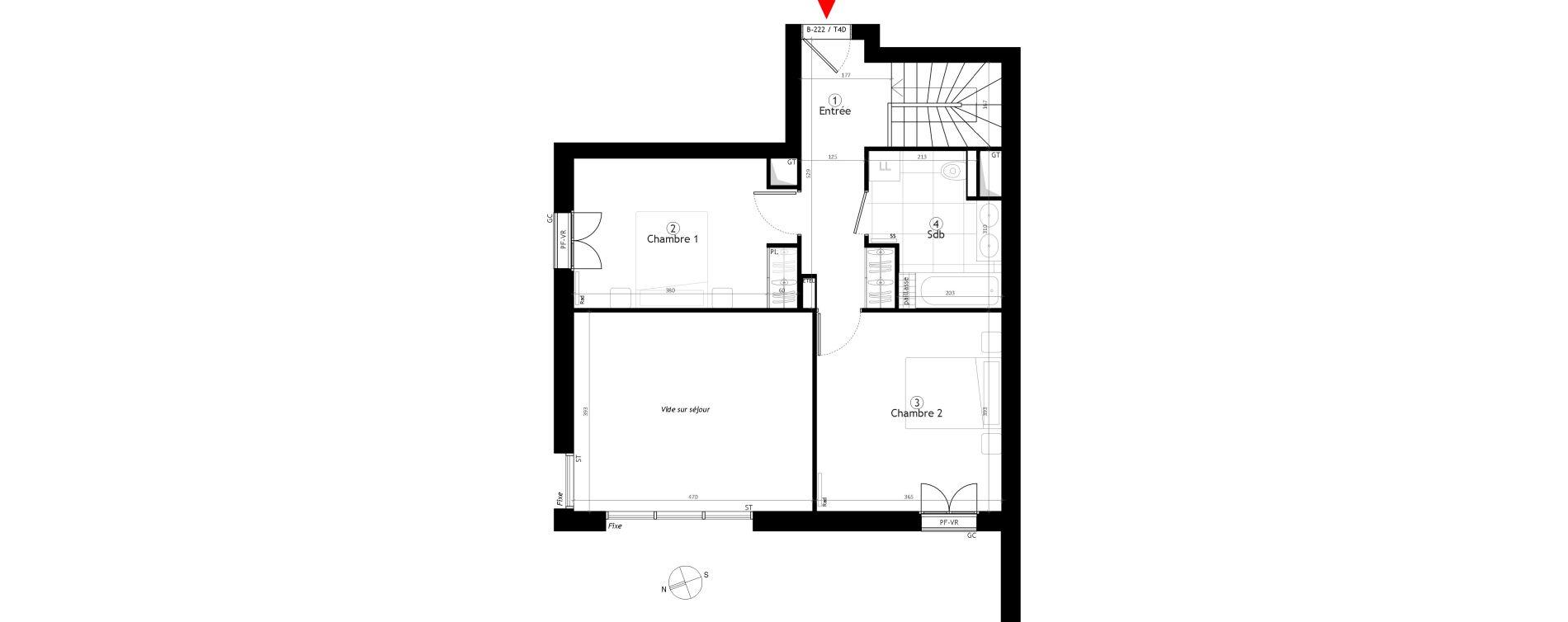 Duplex T4 de 103,05 m2 au Vésinet Parc princesse