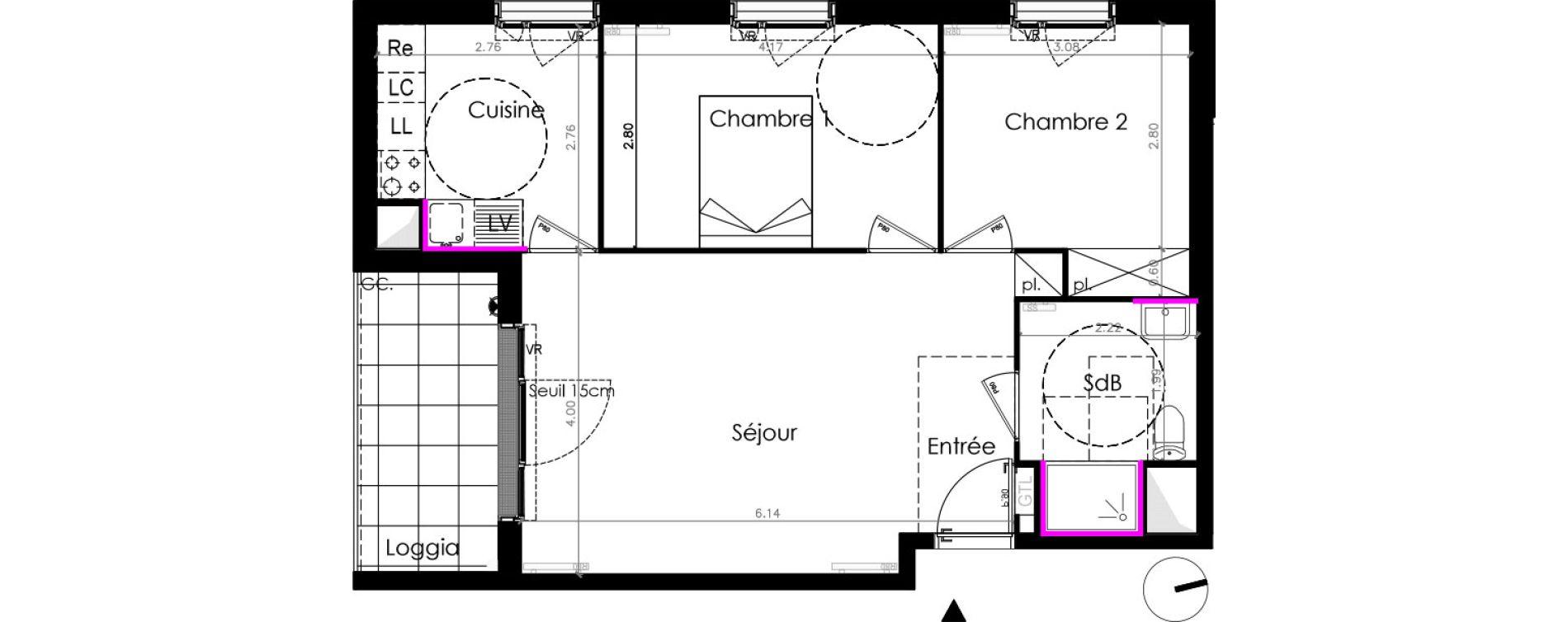 Appartement T3 de 58,20 m2 aux Mureaux Les mureaux centre ville